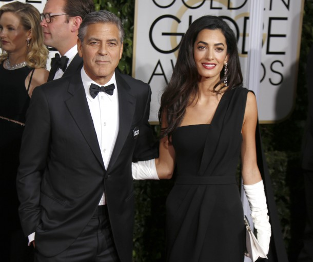 72nd Annual Golden Globe Awards at The Beverly Hilton Hotel - Arrivals Featuring: George Clooney, Amal Alamuddin Clooney Where: Los Angeles, California, United States When: 11 Jan 2015 Credit: WENN.com **Not available for publication in Germany**