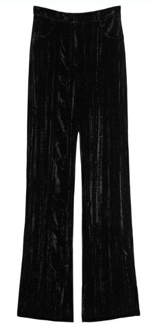 rodarteblack velvet trousers 79