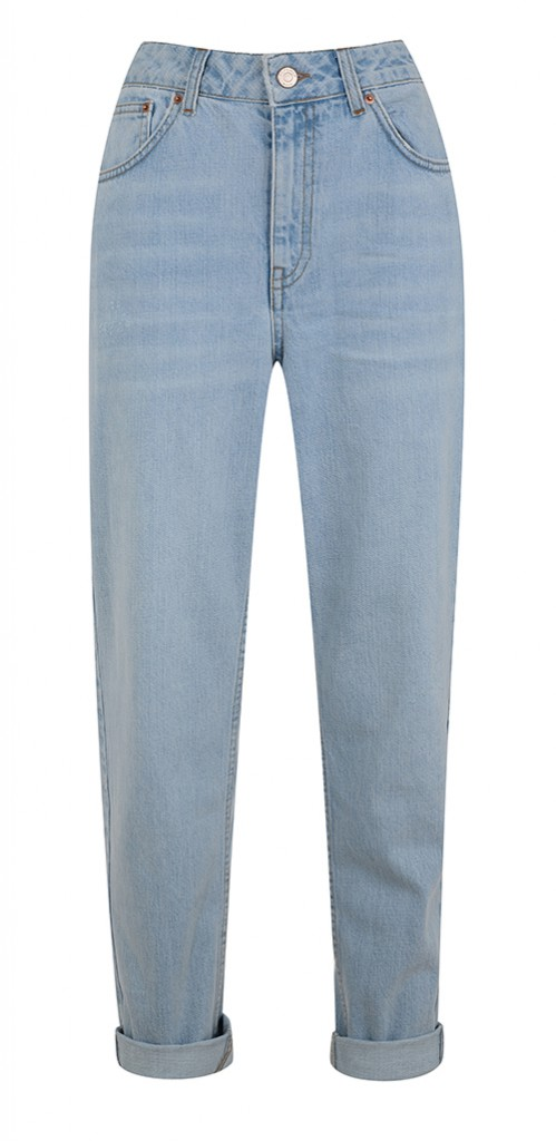 Light wash mom jeans, Topshop