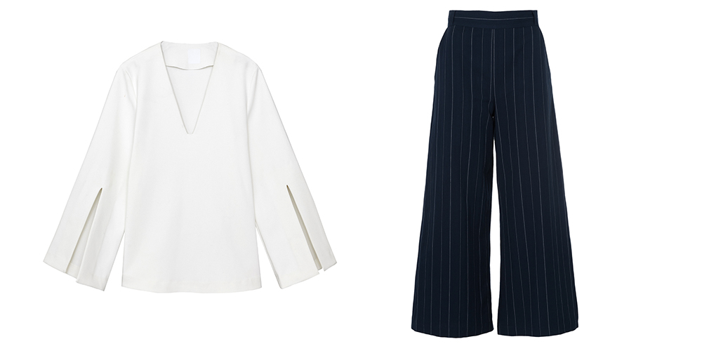 Top and Culottes, both from French Connection
