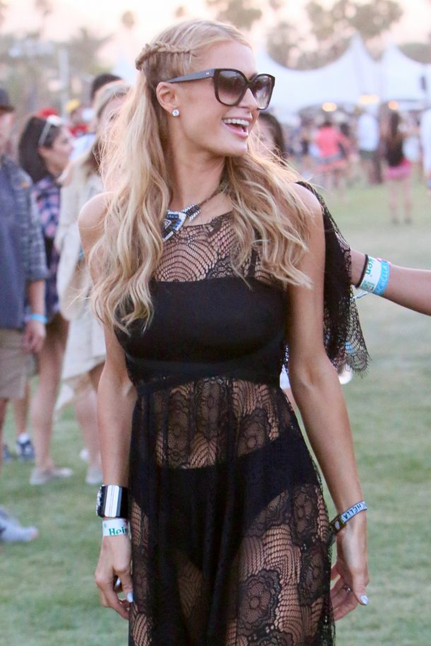 Coachella 2016 - Week 1 - Day 1 - Celebrity Sightings Featuring: Paris Hilton Where: Los Angeles, California, United States When: 15 Apr 2016 Credit: Michael Wright/WENN.com