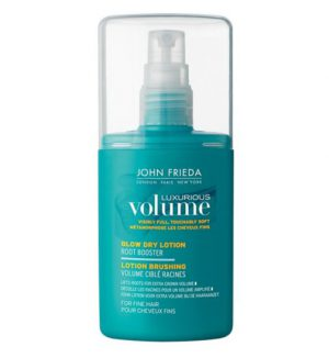 John Frieda Luxurious Volume Blow Dry Lotion volumising products for fine hair
