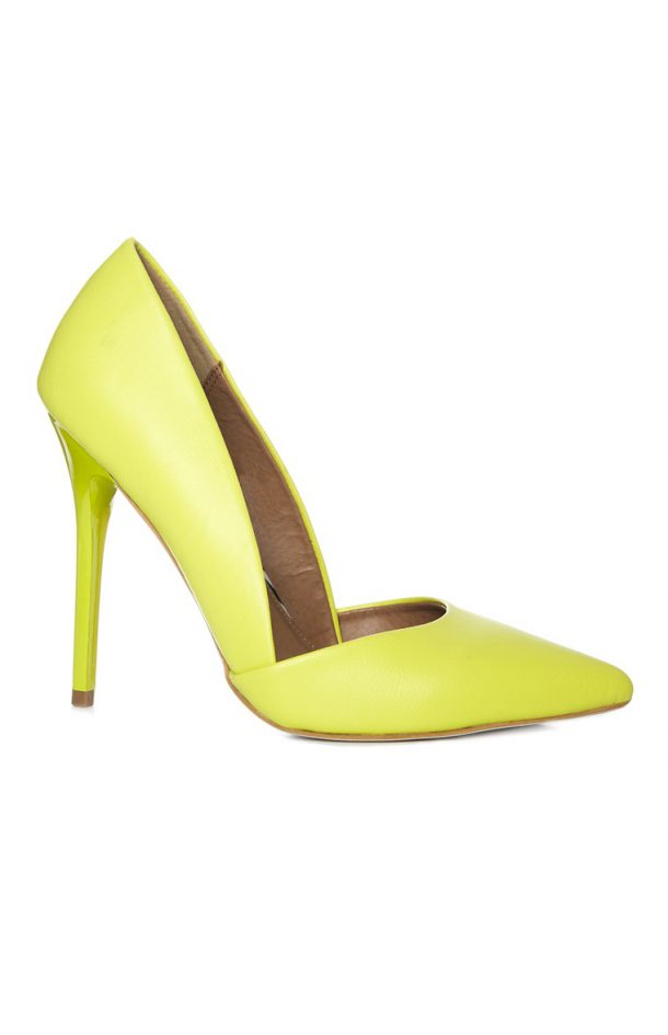 penneys yellow stilettos