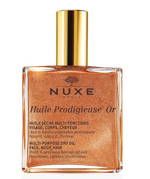nuxe body shimmer dry oils