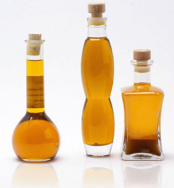 bottles of argan oil