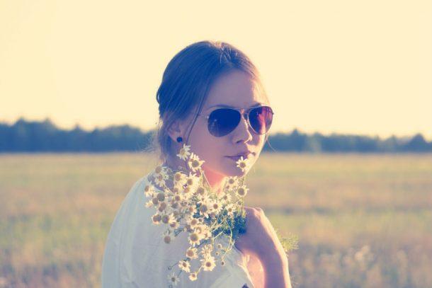woman sunglasses flowers pexels