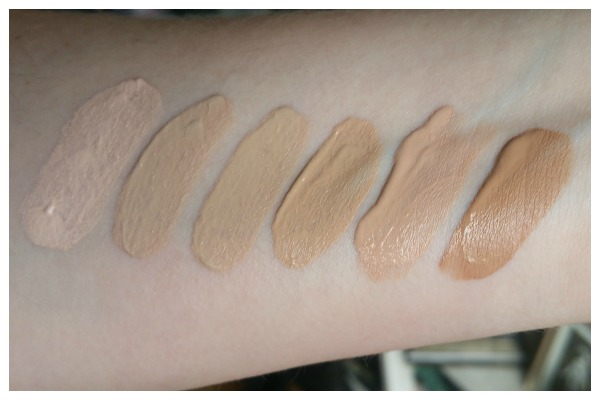 Rimmel fresher skin new foundation swatches