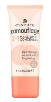 essence camouflage 2 in 1 makeup and concealer