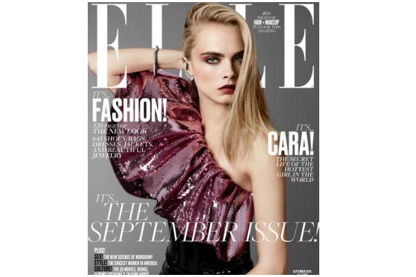 Cara Delevigne Elle Cover Look