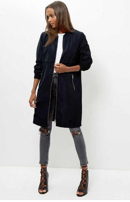 new look long line bomber