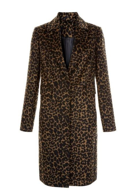 new look leopard print coat