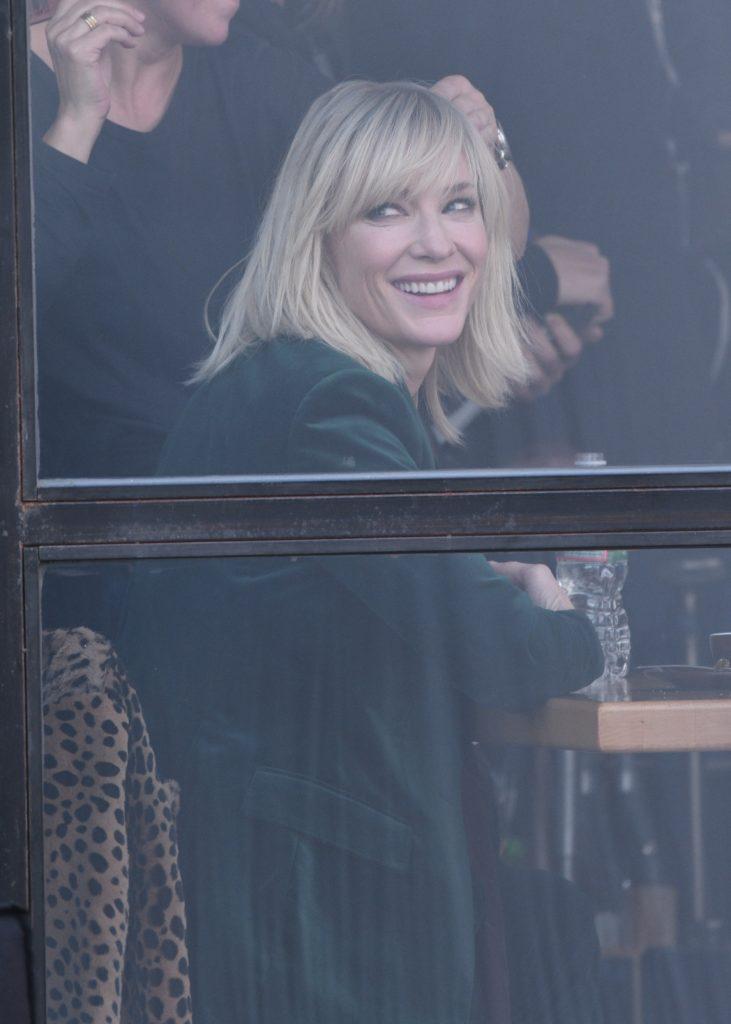 Sandra Bullock and Cate Blanchett on the set of 'Ocean's Eight' Featuring: Sandra Bullock, Cate Blanchett Where: Manhattan, New York, United States When: 24 Oct 2016 Credit: TNYF/WENN.com