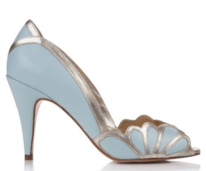 rachel simpson blue wedding shoes