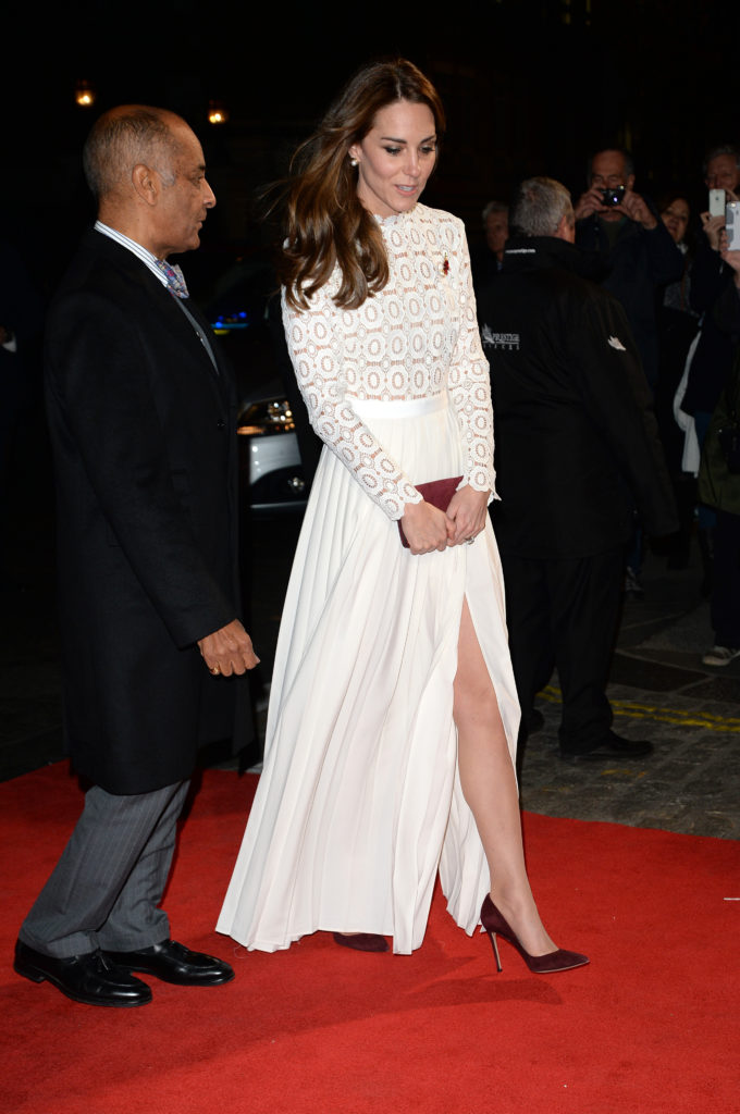 The Duchess Of Cambridge in Self-Portrait dress attends World Premiere of A Street Cat Named Bob at The Curzon Mayfair Featuring: The Duchess Of Cambridge, Kate Middleton Where: London, United Kingdom When: 03 Nov 2016 Credit: Tony Oudot/WENN