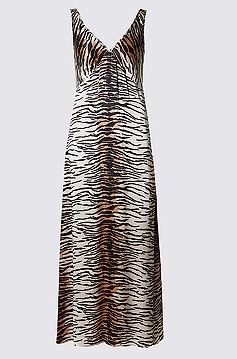 Amy Huberman wears the coolest animal print maxi dress and ...