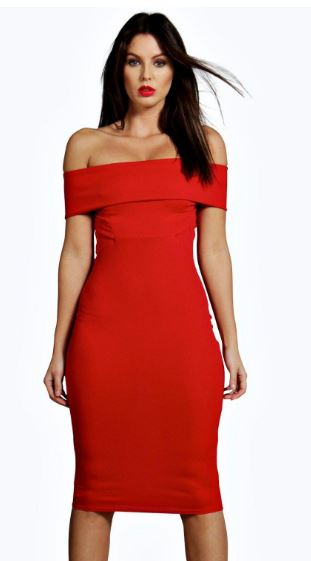 boohoo red dress