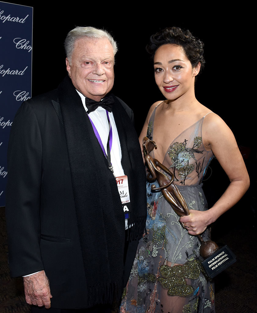Ruth Negga with chairman Palm Springs
