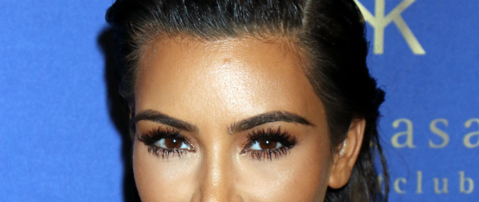 Kim K falsies almond eyes