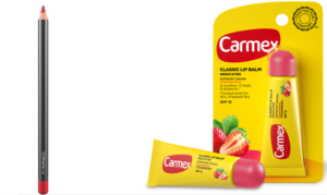 chapped lips cherry and carmex duo