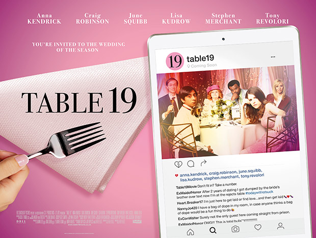 Win tickets to a special preview screening of TABLE 19