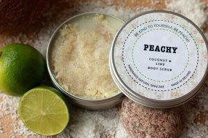 natural Peachy+Coconut+and+Lime+Body+Scrub