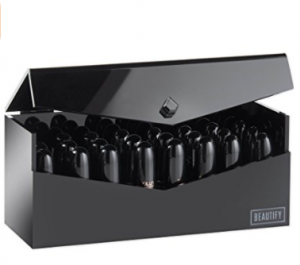 Beatify lipstick organiser with lid black 8.99