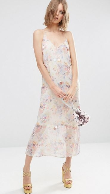 asos floral slip dress margot robbie bridesmaid