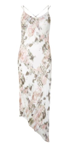 topshop floral slip dress margot robbie bridesmaid