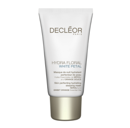 SOS Decleor hydra floral white petal overnight skin perfecting mask