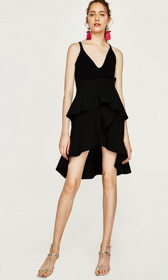 zara black dresses