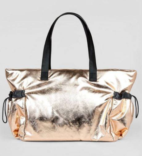 new look rose gold tote bag