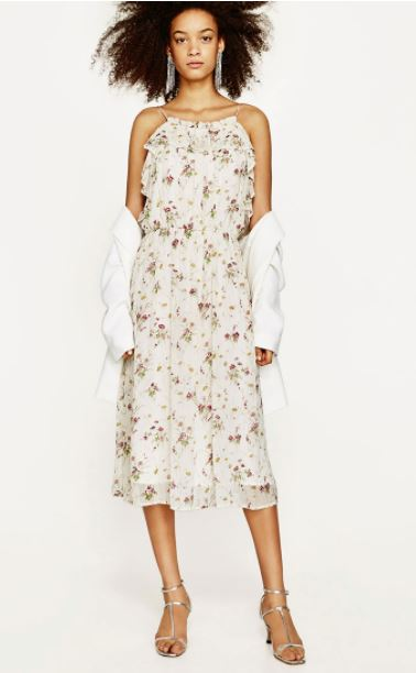 zara high street wedding guest dresses