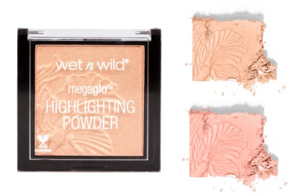 capsule-makeup-bag-wetnwild-megalo-highlighter vegan friendly makeup