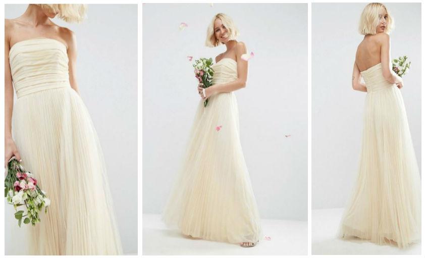 asos garden beach wedding dress