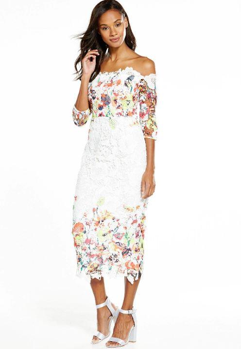 white dress littlewoods 2