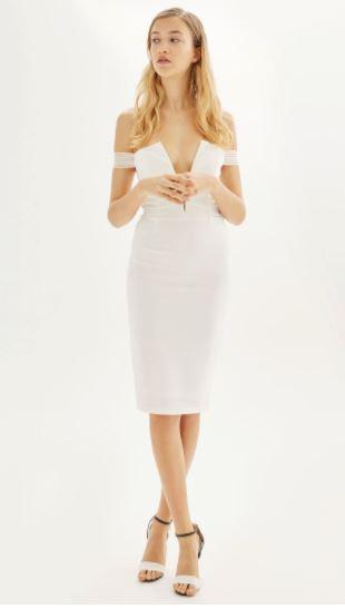 white dresses topshop