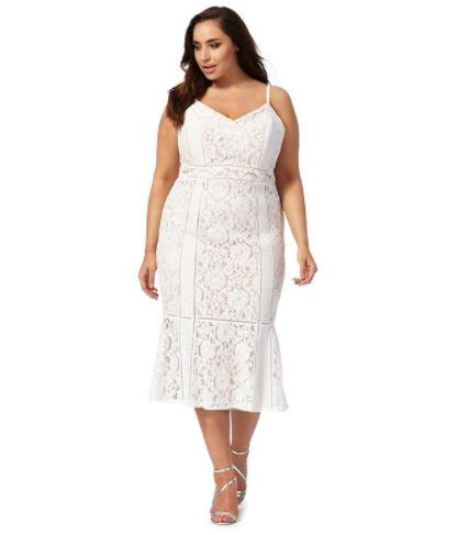debenhams white dresses