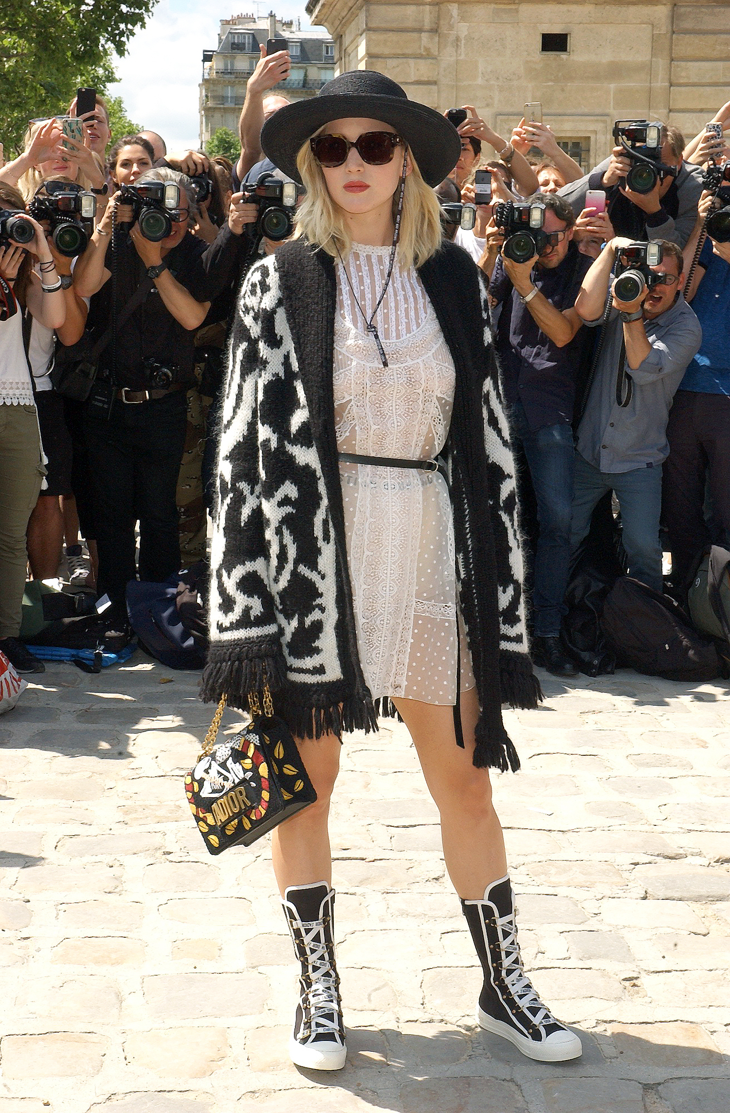 Paris Fashion Week - Christian Dior - Arrivals  Jennifer Lawrence biggest shoe trend of the year