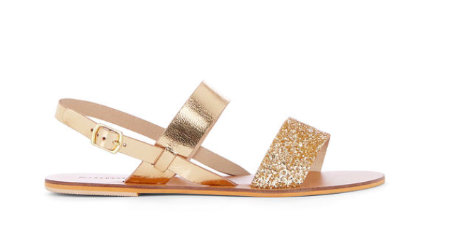 warehouse glam flat sandals