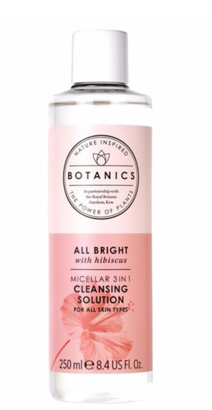 botanics all bright micellar cleasing solution 3 in 1