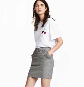 hm plaid skirt