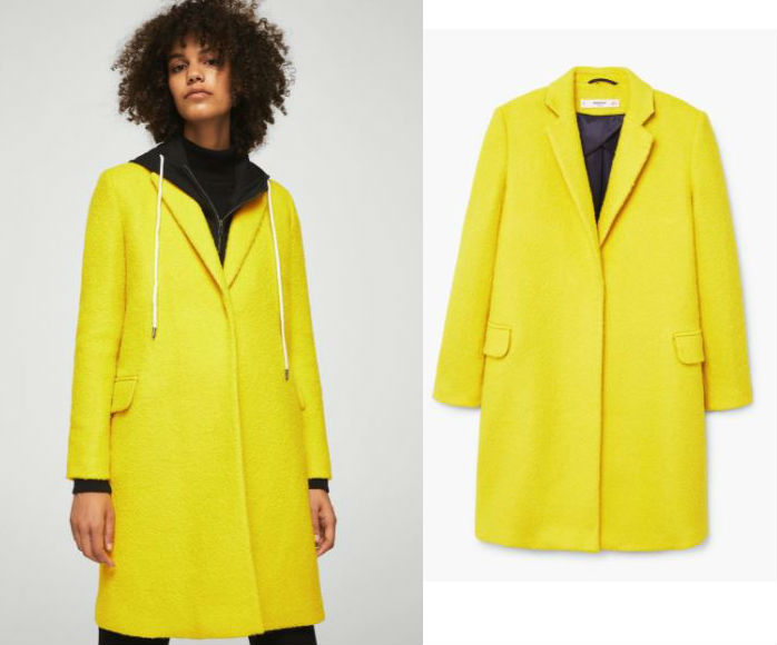 yellow wool coat mango
