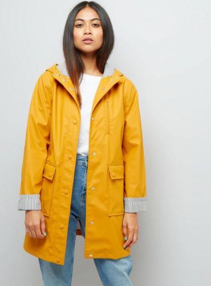 yellow raincoats new look