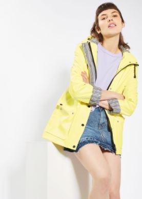 yellow raincoats topshop