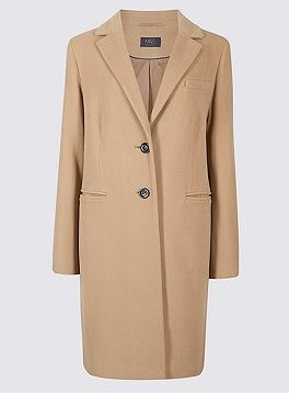 marks and spencer camel coat