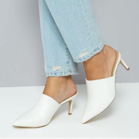 new look white mules kourtney kardashian