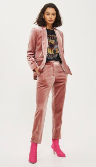 topshop velvet trousers