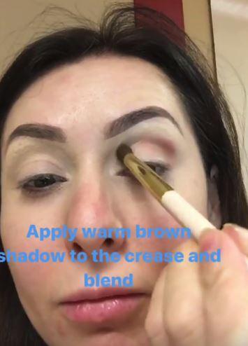 Christmas makeup tutorial 5