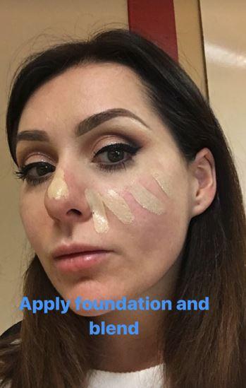 Christmas makeup tutorial 15
