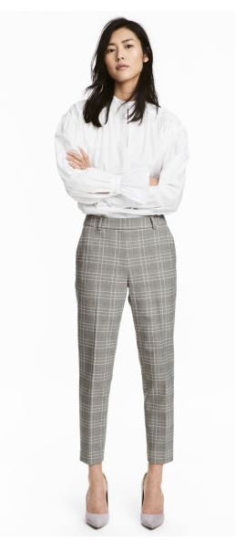 hm checked trousers